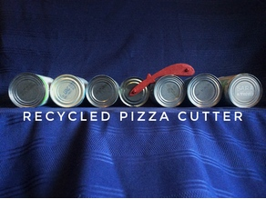 Recycled pizza cutter