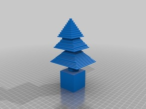 minecraft xmas tree without loop stl file only