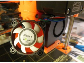 Prusa i3 MK2/S Adaptor for 40mm Silent Fan