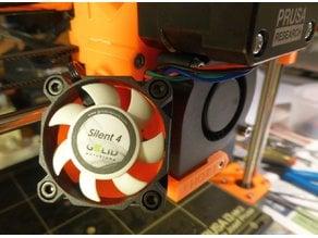 Prusa i3 MK2/S Adaptor for 40mm Silent Fan