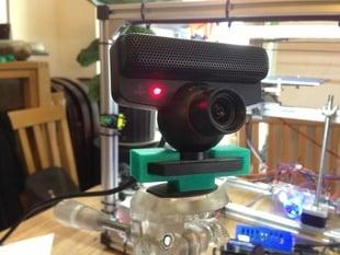 "PS3 Eye camera 1/4"" mount, re-drawn"