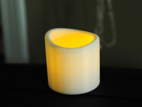 LED Votive Candle & Holder