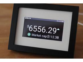 Bitcoin Price Ticker - Coin Display + Clock and App Support