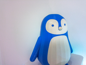 Cute 3D Printable Penguin/Baby Penguin with Drawer Organizer Secret Compartment