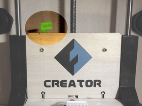 Z-axis offset with indicator for Flashforge creator