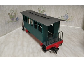 PassenGer carriage (Gscale) for LGB boogy and wheels