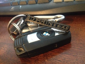 3D Printed Keychain (Let everyone know you 3D print!)