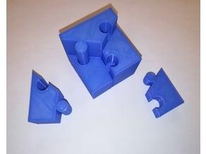 Cube Puzzle, Sliding, Six Pieces