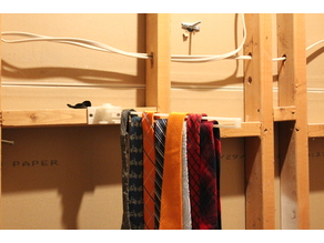 swing arm tie rack