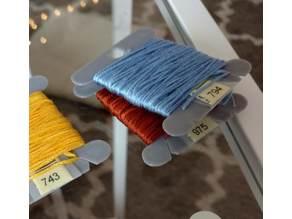 Bobbin Card for Embroidery Floss Yarn Thread