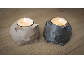 Cute cat candle holder