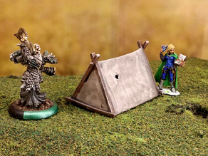 Fantasy viking tent 28mm