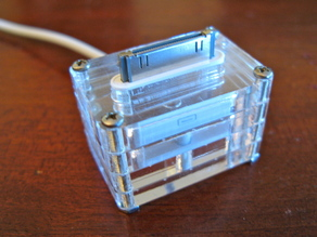 Laser-cut iPhone/iPod Dock