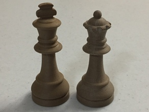 Chess Display Pieces - King & Queen