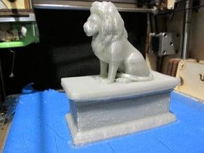 Lion on box