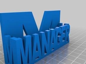 manager business card Holder