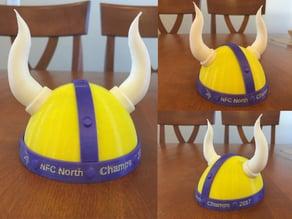 Minnesota Vikings Trophy Helmet with Horns NFC North Champs 2017