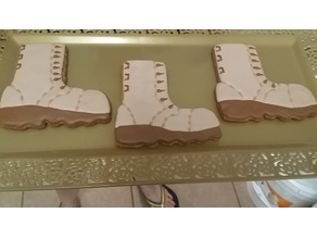 Military Boot Cookie Cutter
