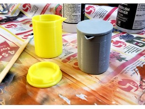 Airbrush Paint Mix Cup with Lid
