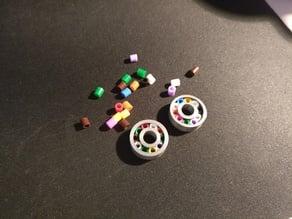 Bearing (608) with Beads (Ikea Pyssla or Hama Ironing Beads)