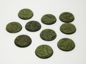 Wargaming bases - desert dirt pattern