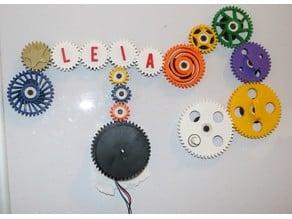 Motorized Fridge Magnet Gears
