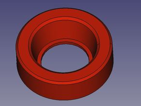 Anti-loss ring for rubber bumpers, used in motorbike top case racks (Givi)