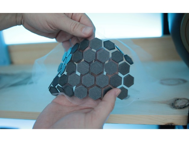 3d Printing On Fabric Hexagon Triangle Pattern Test By