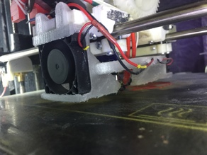 Fans mount for Robo3D with roller bearings mod