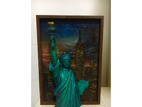 Statue of Liberty 3d painting