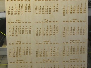 Calendar Maker - Any Year. Lasers and more.