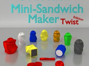 Mini Sandwich Maker Twist Edition - OpenScad