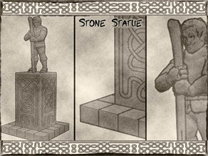 Stone Statue for Dungeons & Dragons, Warhammer Fantasy or tabletop games.
