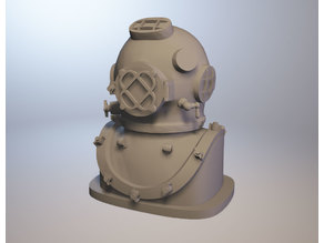 Diving Helmet HighPoly with base