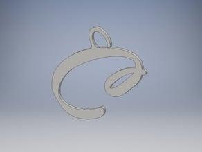 Simple Letter 'C' Key-chain