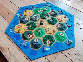 Catan frame border with harbor tiles (base game and Seafarers)