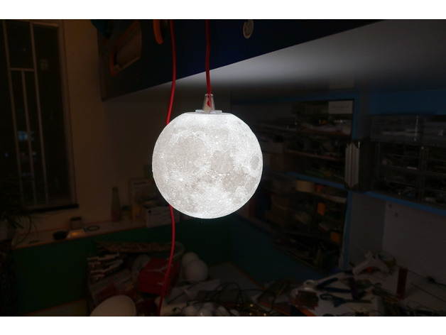 8 Inches Progressive Detail Moon Lamp With Ikea Screw Socket By Moononournation Thingiverse