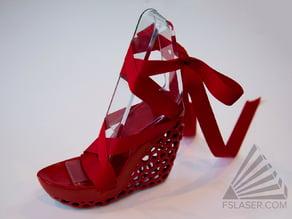 Mesh Wedge Shoe