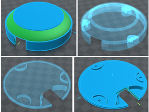 puck round circuit or LED holder