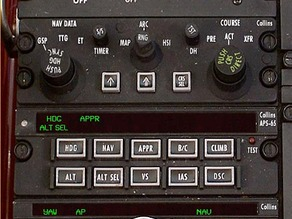 altitude set - autopilot APS-65 APC65 Collins - beechcraft b200