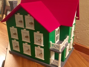 Farmhouse Advent Calendar (with tabs and slots)
