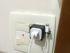 Charger wire holder