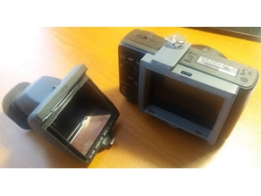 Canon FU100 viewfinder to Sony HX50V LCD adaptor