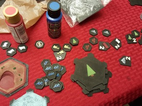 3D Catan Resource Token for Seafarers Expansion