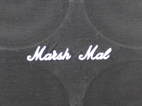 Marshall logo with French joke