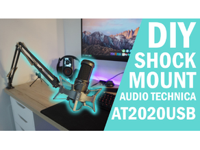 DIY Shock Mount for Ikea Tertial Lamp - Audio Technica AT2020