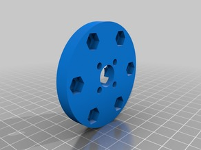 100 MM Nexus Mecanum Wheel adapter plate for Actobotics