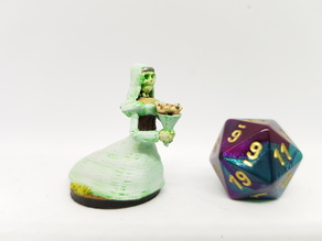 Undead Ghostly Bride/Lich for 28mm Tabletop Gaming