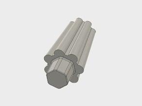 Hex-Key Knob for Hex-Head Nut / Bowden Filament-Tensioner Bolt