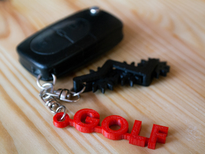 VW Golf and Caddy Keychain
